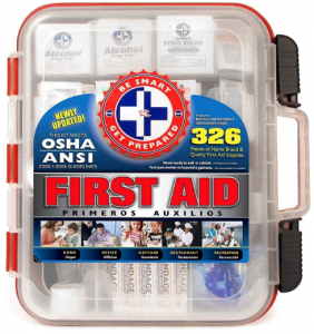 Be Smart Get Prepared First Aid Kit Hard Case