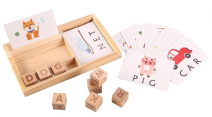 oqutoys Matching Letter Game for Toddlers, Wooden Word Spelling Games for Kids