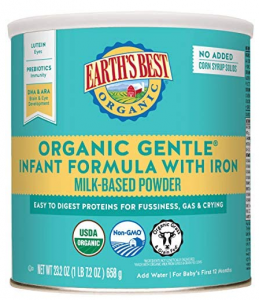 Earth's Best Organic Gentle Infant Powder Formula with Iron