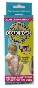 Happi Tummi All-Natural Herbal Baby Belly Warmer for Colic and Gas Relief