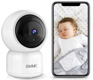 OMMC Wireless Security Camera, 1080P Home IP Camera Baby Monitor with Night Vision/2-Way Audio/Motion